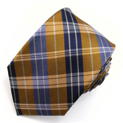 Orange Plaid Narrow Tie #6751