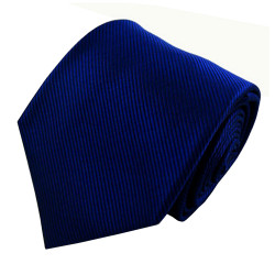 Royal Solid Color Silk Ribbed Tie