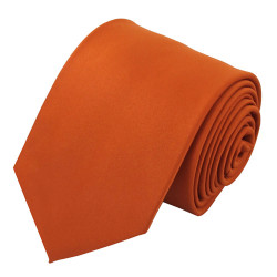 X-Long Solid Rust Polyester Tie