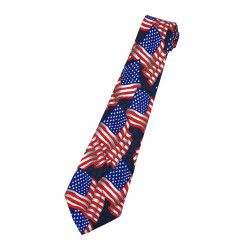 Land of the Free American Flag Tie