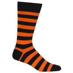 Men's Orange & Black Stripe Socks / Socks