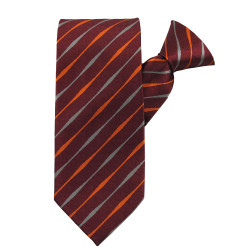 Red Striped Beauty Clip on Tie