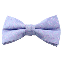 Blue & Lavender Pattern Clip On Bow Tie