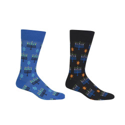 Men's Menorah Pattern Socks
