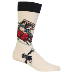 Men's Norman Rockwell Look Out Below Socks