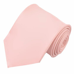 X-Long Solid Light Pink Polyester Tie