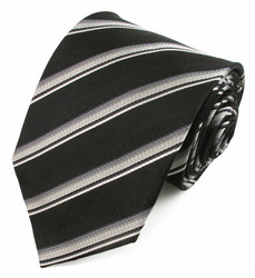 X-Long Black Stripe Tie #930297