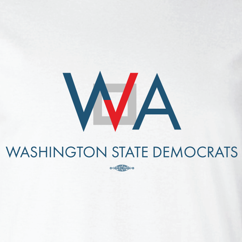 Washington Democrats Official Logo (WhiteTee)