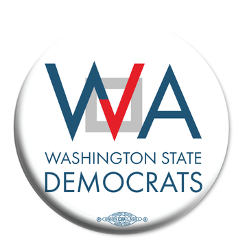 """Washington Democrats Official Logo  (2.25"""" Mylar Button -- Pack Of Two!)"""