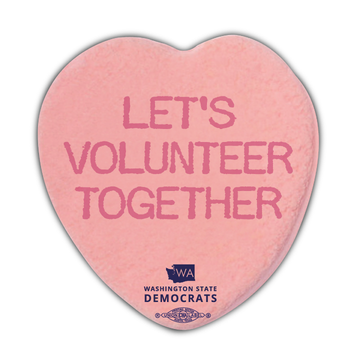 """Democratic Valentine's Sticker Pack (4"""" x 4"""" Vinyl Sticker -- Pack of Four!)"""
