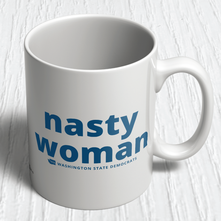 """Nasty Woman"" logo graphic (11oz. Coffee Mug)"