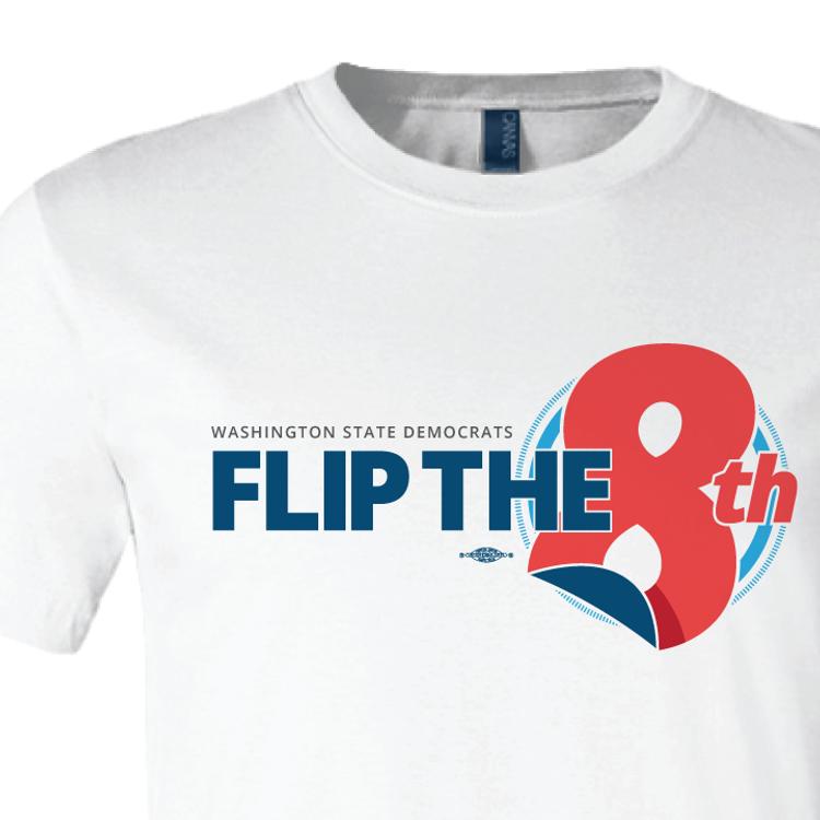 Flip The 8th (White Tee)