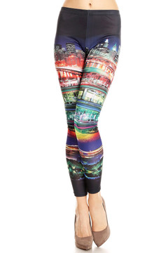 Front side image of P-4258 - Wholesale Made in the USA Graphic Print Leggings