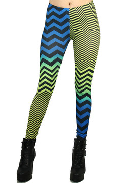 Front side image of P-3772 - Wholesale Made in the USA Graphic Print Leggings