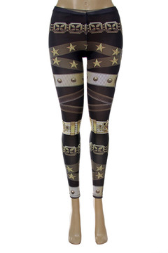 Front side image of P-5044 - Wholesale Made in the USA Graphic Print Leggings
