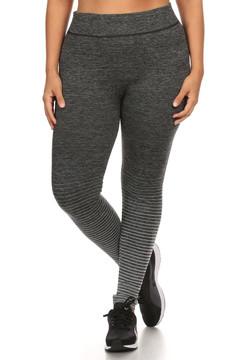 Front image of 6L21X - Wholesale Fleece Lined Plus Size Leggings