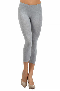 Front side image of Wholesale USA Cotton Capri Length Leggings