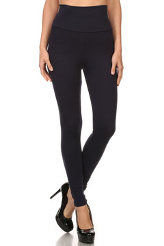 Front side image of Wholesale USA High Waisted Cotton Leggings