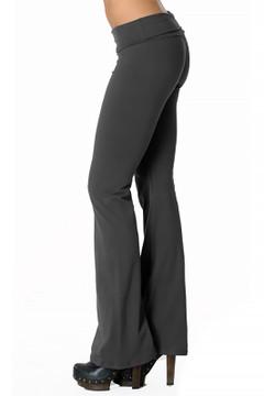 Left Side Image of Wholesale USA Solid Cotton Yoga Leggings