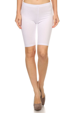 Front side image of Wholesale USA Cotton Thigh Shorts