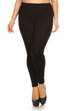 Wholesale Buttery Soft Plus Size Basic Solid Leggings