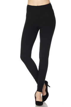 Wholesale Buttery Soft High Waisted Plus Size Basic Solid Leggings