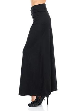 Wholesale Buttery Soft Basic Black Maxi Skirt