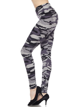 Wholesale Buttery Soft High Waisted Charcoal Camouflage Leggings