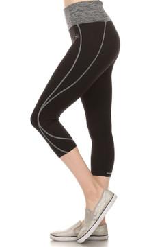Wholesale Women's Active Workout Capris with Rear Pocket