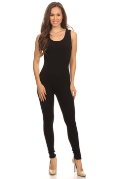 Front side image of  Wholesale USA Basic Cotton Plus Size Jumpsuit