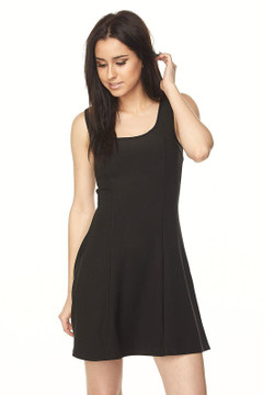 Wholesale Scuba Solid Skater Dress