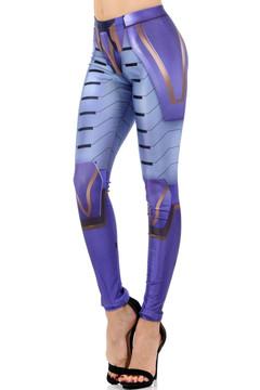 Wholesale Premium Graphic Print Sexy Purple Tech Armor Leggings