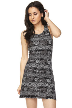 Wholesale Buttery Soft Tribal Elephant Cross Back Dress