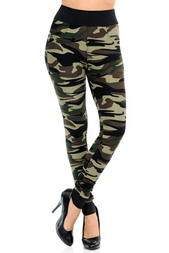 Wholesale Buttery Soft Risky Business Camouflage Banded Leggings