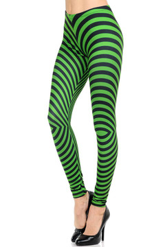 Wholesale Brushed Graphic Print Psychedelic Swirl Leggings