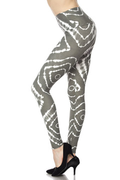 Wholesale Buttery Soft Body Flatter Tie Dye High Waisted Plus Size Leggings
