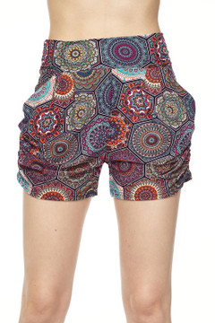 Wholesale Buttery Soft Colorful Emblem Harem Shorts