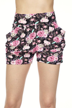 Wholesale Buttery Soft Radiant Pink Rose Harem Shorts