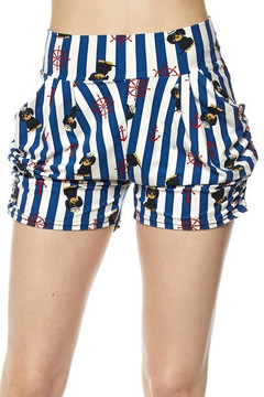 Wholesale Buttery Soft Sailor Pup Harem Shorts