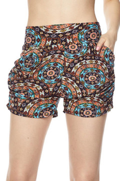 Wholesale Buttery Soft Circle Mandala Harem Shorts