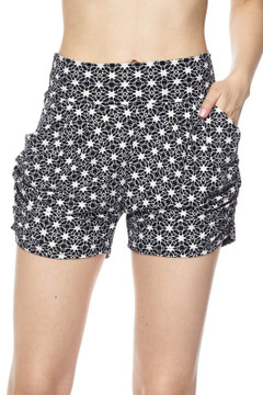 Wholesale Buttery Soft Even Star Harem Shorts
