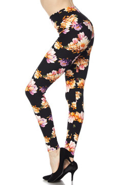 Wholesale Buttery Soft High Waisted Floral Bunch Plus Size Leggings