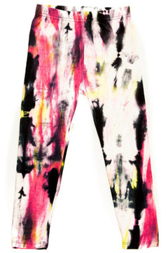 Wholesale Buttery Soft Rainbow Rip Tie Dye Kid's Leggings