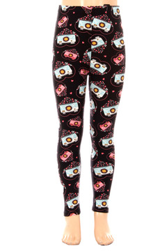 Wholesale Buttery Soft Cute Lil' Cameras Kids Leggings