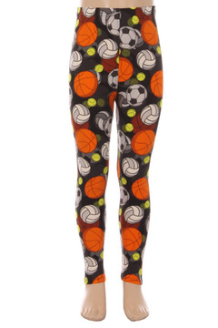 Wholesale Buttery Soft 3D Sports Ball Kids Leggings - LIMTED EDITION
