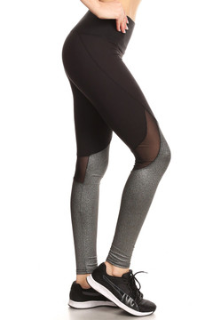 Wholesale Duo Blend Mesh Sport Leggings