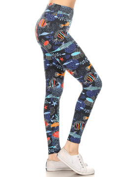 Wholesale Buttery Soft Fish in the Sea High Waisted Leggings