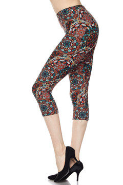 Wholesale Buttery Soft Gorgeous Layered Mandal Capris