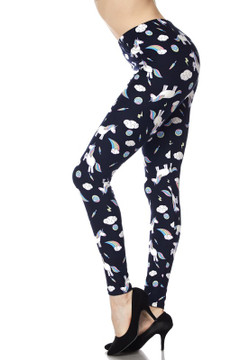 Wholesale Buttery Soft Playful Unicorns Plus Size Leggings