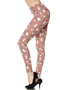 Wholesale Buttery Soft Cutie Pie Unicorns Plus Size Leggings